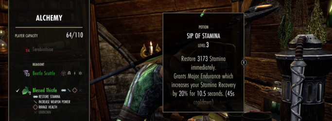 Eso sip of stamina